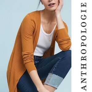 Anthropologie Cali Ribbed Long Cardigan S